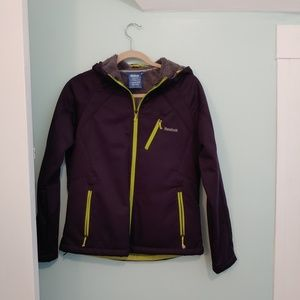 Reebok jacket, M, purple and florescent yello